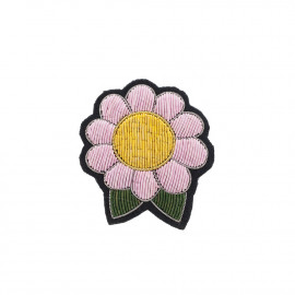 """Broches brodées """" Flower Power """""""