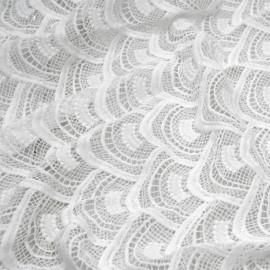 Tissu Jacquard Jardin d'hiver Blanc