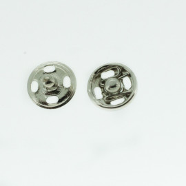 Boutons pressions nickelé 5 mm