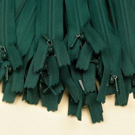 Fermeture éclair invisible non-séparable vert evergreen 25 cm  - pretty mercerie - mercerie en ligne