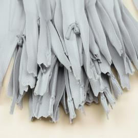 Fermeture éclair invisible non-séparable gris clair 25 cm  - pretty mercerie - mercerie en ligne