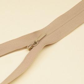 Fermeture éclair invisible non-séparable beige 25 cm  - pretty mercerie - mercerie en ligne