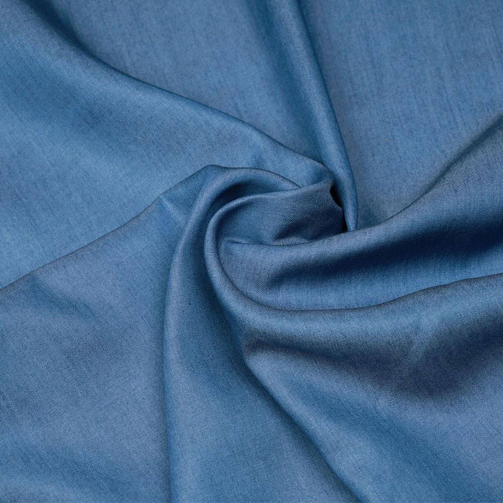 Tissu tencel effet denim bleu allure - pretty mercerie - mercerie en ligne